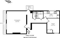 Large floorplan for Cambridge Street, Pimlico, SW1V