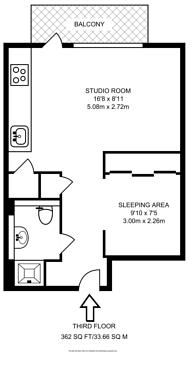 Large floorplan for Hodgeson House, Aldgate, E1