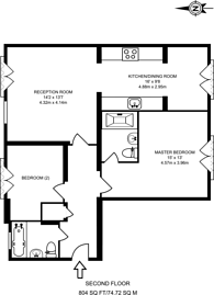 Large floorplan for Gresham Park Road, Old Woking, GU22
