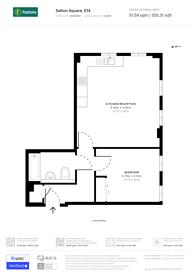 Large floorplan for Caspian Apartments, Limehouse, E14