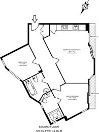Large floorplan for Rowcross Street, Bermondsey, SE1
