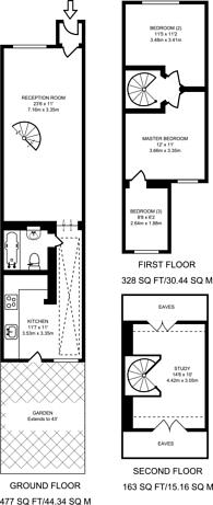 Large floorplan for Harman Road, Bush Hill Park, EN1