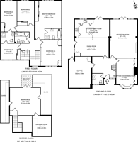 Large floorplan for Rowley Green Road, Arkley, EN5
