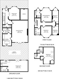 Large floorplan for Oakwood Park Road, Southgate, N14