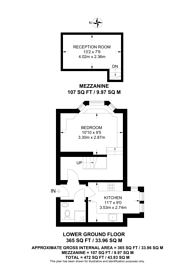 Large floorplan for Fitzjohns Avenue, Hampstead, NW3