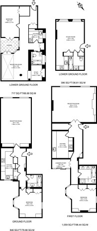 Large floorplan for Chesham Place, Belgravia, SW1X