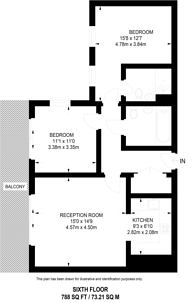 Large floorplan for Roseberry Place, Dalston, E8