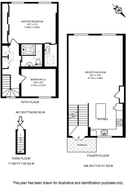 Large floorplan for Claverton Street, Pimlico, SW1V