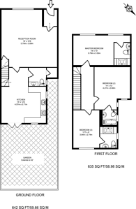 Large floorplan for Sutton Court Road, Chiswick, W4