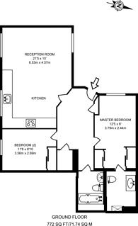 Large floorplan for Millmead Terrace, Guildford, GU2