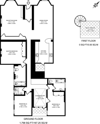 Large floorplan for Sussex Gardens, Hyde Park Estate, W2