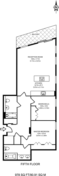 Large floorplan for Victoria Street, Victoria, SW1E