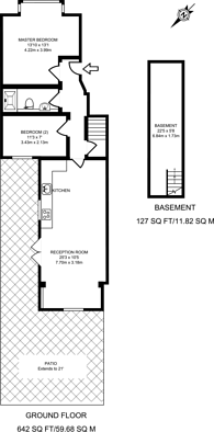 Large floorplan for Burntwood Lane, Earlsfield, SW17