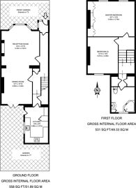 Large floorplan for Gloucester Road, Acton, W3