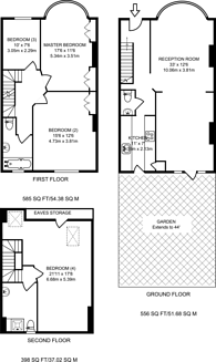 Large floorplan for Liverpool Road, Ealing, W5