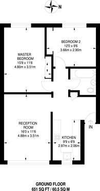 Large floorplan for Brierley Court, Hanwell, W7