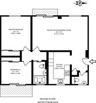 Large floorplan for Hillcrest Road, Ealing, W5