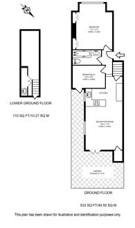 Large floorplan for Fabian Road, Fulham, SW6