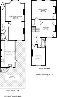 Large floorplan for Munster Road, Fulham, SW6