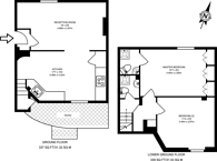 Large floorplan for The Mount, Hampstead, NW3