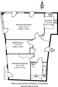 Large floorplan for St Pauls Road, Canonbury, N1