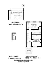 Large floorplan for Cantelowes Road, Camden, NW1