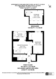 Large floorplan for Onslow Gardens, South Kensington, SW7