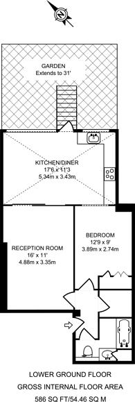 Large floorplan for Harcourt Terrace, Chelsea, SW10