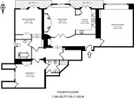 Large floorplan for Hyde Park Gate, Kensington, SW7