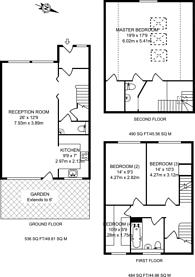 Large floorplan for Effingham Road, Harringay, N8