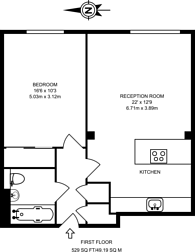 Large floorplan for Westferry Road, Isle Of Dogs, E14