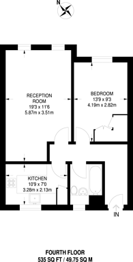 Large floorplan for Covent Garden, Covent Garden, WC2N