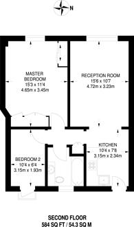 Large floorplan for Cumberland Court, Marylebone, W1H