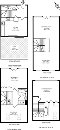 Large floorplan for Warfield Road, Kensal Green, NW10