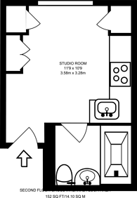 Large floorplan for Arundel Gardens, Notting Hill, W11