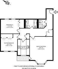 Large floorplan for Iverna Gardens, Kensington, W8