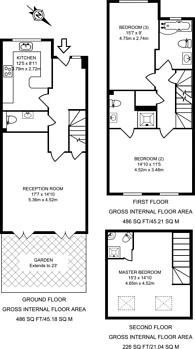 Large floorplan for Barry Road, East Dulwich, SE22
