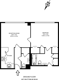 Large floorplan for Pennington Court, Wapping, E1W