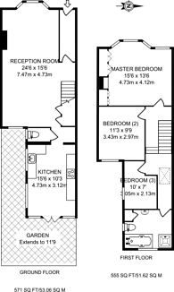 Large floorplan for Earlsmead Road, Kensal Rise, NW10