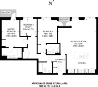 Large floorplan for Park Street, Chelsea Creek, SW6