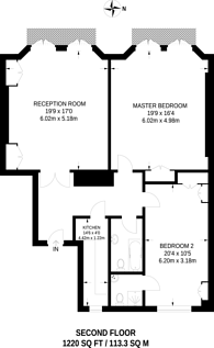 Large floorplan for Whitehall Court, Westminster, SW1A