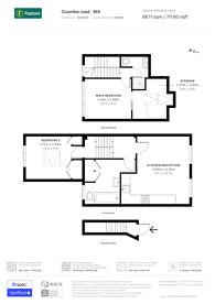 Large floorplan for Coombe Road, Chiswick, W4