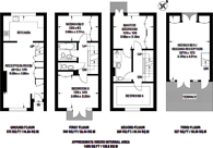Large floorplan for Rembrandt Close, Sloane Square, SW1W