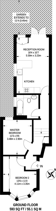 Large floorplan for Townmead Road, Sands End, SW6