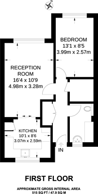 Large floorplan for Cromwell Road, Oval, SW9