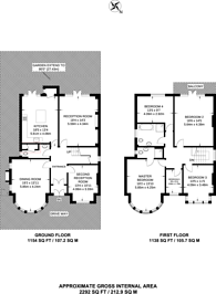 Large floorplan for Church Crescent, Finchley Central, N3