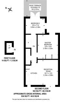 Large floorplan for Fulham Palace Road, Bishop's Park, SW6