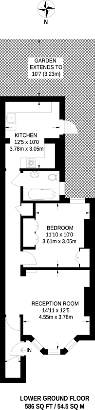 Large floorplan for Anselm Road, Fulham, SW6