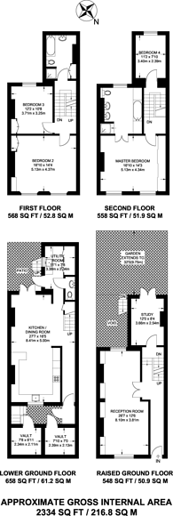 Large floorplan for Ifield Road, Chelsea, SW10