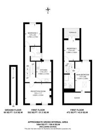 Large floorplan for Underhill Road, East Dulwich, SE22